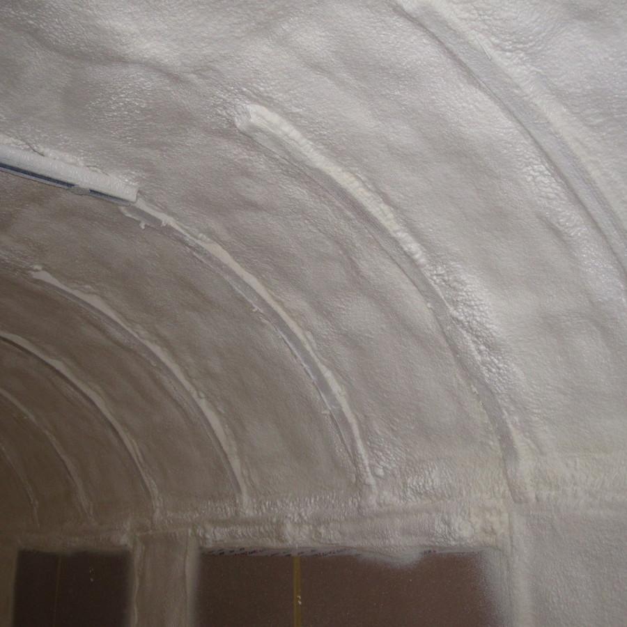 isolierte Oberfläche bei gewölbten Untergründen