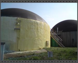 Isolierung eines Biogasbehälters