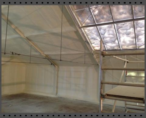 Isolierung von Glasflächen gegen Wärme und Kälte