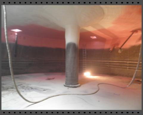 Biogasbehälter von innen dämmen