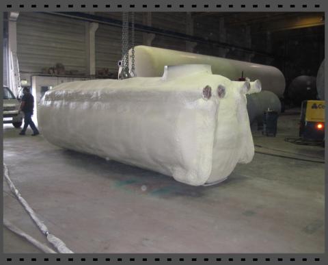 Tank für Palmöl isolieren mit Polyurethan Sprühschaum